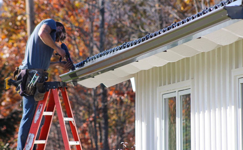 Installation of Seamless Aluminum Gutters by Everest Seamless Gutters